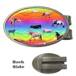 Horses in Rainbow Money Clips (Oval)