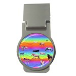 Horses in Rainbow Money Clips (Round)