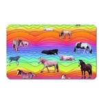 Horses in Rainbow Magnet (Rectangular)