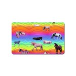 Horses in Rainbow Magnet (Name Card)