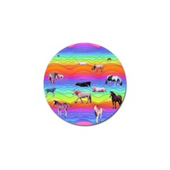 Horses In Rainbow Golf Ball Marker (10 Pack) by CosmicEsoteric