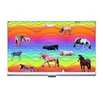 Horses in Rainbow Business Card Holders