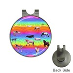 Horses in Rainbow Hat Clips with Golf Markers