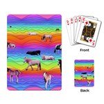Horses in Rainbow Playing Card