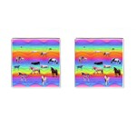 Horses in Rainbow Cufflinks (Square)