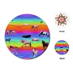 Horses in Rainbow Playing Cards (Round)