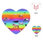 Horses in Rainbow Playing Cards (Heart)