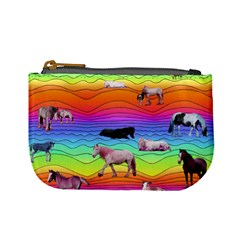Horses In Rainbow Mini Coin Purses by CosmicEsoteric