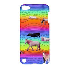 Horses In Rainbow Apple Ipod Touch 5 Hardshell Case by CosmicEsoteric