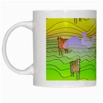 Cows and Clouds in the Green Fields White Mugs