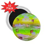 Cows and Clouds in the Green Fields 2.25  Magnets (10 pack)