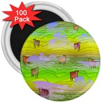 Cows and Clouds in the Green Fields 3  Magnets (100 pack)