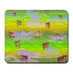 Cows and Clouds in the Green Fields Large Mousepads