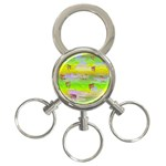 Cows and Clouds in the Green Fields 3-Ring Key Chains