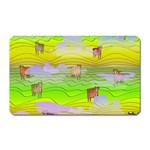 Cows and Clouds in the Green Fields Magnet (Rectangular)