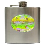 Cows and Clouds in the Green Fields Hip Flask (6 oz)