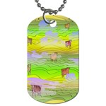 Cows and Clouds in the Green Fields Dog Tag (Two Sides)