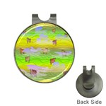 Cows and Clouds in the Green Fields Hat Clips with Golf Markers