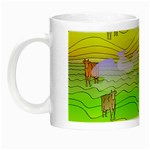 Cows and Clouds in the Green Fields Night Luminous Mugs
