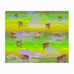 Cows and Clouds in the Green Fields Small Glasses Cloth