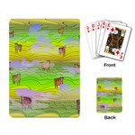Cows and Clouds in the Green Fields Playing Card