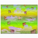 Cows and Clouds in the Green Fields Jewelry Bags