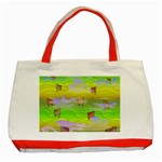 Cows and Clouds in the Green Fields Classic Tote Bag (Red)