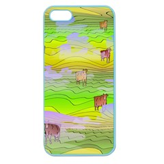 Cows And Clouds In The Green Fields Apple Seamless Iphone 5 Case (color) by CosmicEsoteric