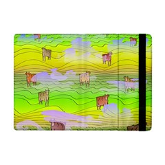 Cows And Clouds In The Green Fields Apple Ipad Mini Flip Case by CosmicEsoteric