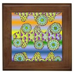 Amoeba Flowers Framed Tiles