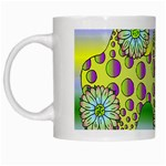 Amoeba Flowers White Mugs