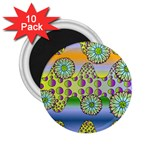 Amoeba Flowers 2.25  Magnets (10 pack)