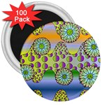 Amoeba Flowers 3  Magnets (100 pack)