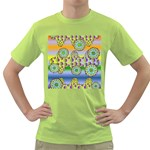 Amoeba Flowers Green T-Shirt