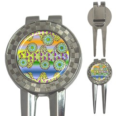Amoeba Flowers 3 In 1 Golf Divots by CosmicEsoteric