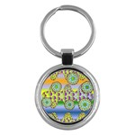 Amoeba Flowers Key Chains (Round)
