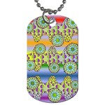 Amoeba Flowers Dog Tag (One Side)