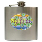 Amoeba Flowers Hip Flask (6 oz)