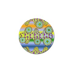 Amoeba Flowers Golf Ball Marker (4 Pack) by CosmicEsoteric