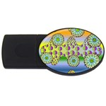 Amoeba Flowers USB Flash Drive Oval (2 GB)