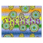 Amoeba Flowers Rectangular Jigsaw Puzzl