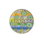 Amoeba Flowers Hat Clip Ball Marker (4 pack)