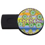 Amoeba Flowers USB Flash Drive Round (4 GB)