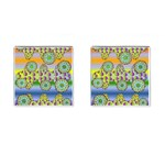 Amoeba Flowers Cufflinks (Square)