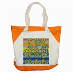 Amoeba Flowers Accent Tote Bag