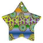 Amoeba Flowers Star Ornament (Two Sides)