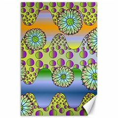 Amoeba Flowers Canvas 24  X 36  by CosmicEsoteric