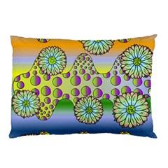 Amoeba Flowers Pillow Case by CosmicEsoteric