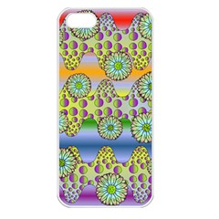 Amoeba Flowers Apple Iphone 5 Seamless Case (white) by CosmicEsoteric