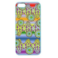 Amoeba Flowers Apple Seamless Iphone 5 Case (color) by CosmicEsoteric